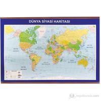 Panda 406 70X100 Dünya Siyasi + Fiziki Çıtalı Harita