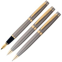 Scrikss 38 3'Lü Tükenmez Kalem Saten Altın