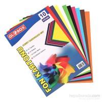 Globox Fon Kartonu A4 10- Renk 6804