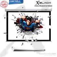 Xblack XGS-200 200x200 Glass Beads Storlu İthal Projeksiyon Perdesi (Arkası Siyah Fonlu)