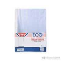 Noki Eco A4 Beyaz Kenarlı Delikli Poşet Dosya Ekoomik Gömlek Föy 5 Paket