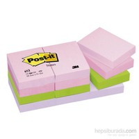 Post-it® Not, Floral Serisi, Pastel Tonlari, 4 renk x 3 blok, 100 yaprak, 38x51mm