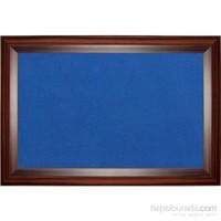 Akyazı 60x180 Geniş Ahşap Çerçeve Renkli Pano (Mavi)