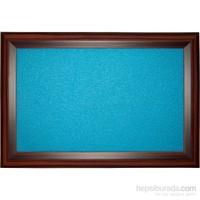 Akyazı 60x200 Geniş Ahşap Çerçeve Renkli Pano (Mavi)