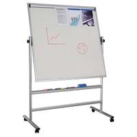 Snapper 120X120 Cm Dönebilen Beyaz, Manyetik Zeminli Kağıt Tutuculu Yazı Tahtası