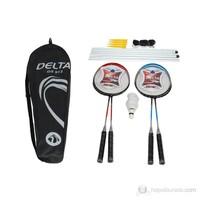 Delta Komple Çantalı Full Badminton Deluxe Set *4 Raket + 3 Top + Ağ & Demir - DS 913