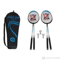 Delta Komple Çantalı Badminton Deluxe Set * 4 Raket + 3 Top - DS 908