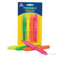 Proteks Fosforlu Kalem 4'lü Set Blister(Karışık Renk)
