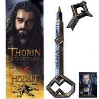 Noble Collection The Hobbit Thorin Oakenshield Kalem Ve Kitap Ayracı Seti