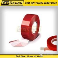 CarDesign Çift Taraflı Şeffaf Bant 20 mm x 5 Metre