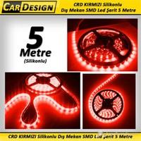 CarDesign KIRMIZI Silikonlu Dış Mekan SMD Led Şerit 5 Metre