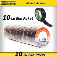 CRD Globe 19 mm İzole Bant SİYAH 10 lu Eko Paket (Orijinal )