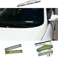 Araç İçi Fosforlu Telefon Plakası