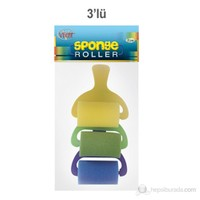 Vincent Roller Sponge 3'lü (Düz)