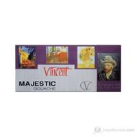 Vincent Majestic Guaj Boya Seti 12 Renk x 12 ml.