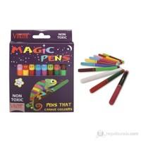 Vincent Magic Pens Renk Değiştiren Sihirbaz Keçe Uçlu Kalemler