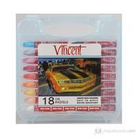 Vincent Yağlı Pastel 18'li Set Mavi