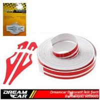 Dreamcar İkili Şerit Bant Beyaz 10 M. 6059003