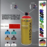 Dupli-Color Hi-Coat Ral 3000 Parlak Ateş Kırmızısı Akrilik Sprey Boya 400 Ml. Made in Germany 406294