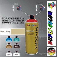 Dupli-Color Hi-Coat Ral 7032 Parlak Çakıl Gri Akrilik Sprey Boya 400 Ml. Made in Germany 406379