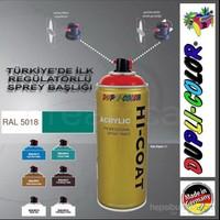 Dupli-Color Hi-Coat Ral 5018 Parlak Turkuaz Akrilik Sprey Boya 400 Ml. Made in Germany 406577