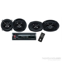 Sony DXB-6913 USBli Oto Teyp ve Hoparlörlü Mega Bass Performans Seti