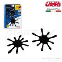 Lampa Splash Siyah 3D Dekoratif Çıkartma 07252