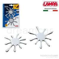 Lampa Splash Krom 3D Dekoratif Çıkartma 07253