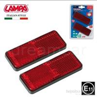 Lampa E11 Belgeli Kırmızı Reflektör Dikdörtgen 2 Ad. 20540