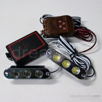 Dreamcar 3 Beyaz Led Power Çakar Lamba Uzaktan Kumandalı 2'li
