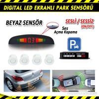 AutoCet BEYAZ Ultra Led Ekranlı Sesli Park Sensörü 3465a