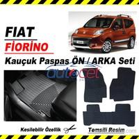 Fiat Fiorino Kauçuk Ön / Arka Araca Özel Paspas Seti 3550a