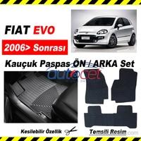 Fiat Punto EVO Kauçuk Ön / Arka Araca Özel Paspas Seti 3556a