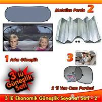 AutoCet Ekonomik Güneşlik ve Seyahat Seti-2 3243a