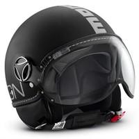 Momo Design Fgtr Classic Mat Siyah, Beyaz Logo Medium Kask