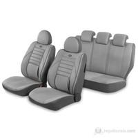 Pufi Ortepedik NANO Kumaşlı SüET Koltuk Kılıfı (Airbag Uyumlu) Gri