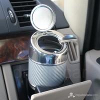 Dreamcar Metal Küllük Gümüş Karbon Otomatik Kapaklı 0700902