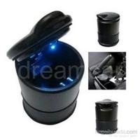 Dreamcar Magnum Mavi Led Işıklı, Metal Gövdeli Silikon Tabanlı Küllük Siyah 07081