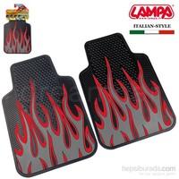 Lampa Fire&Furious Gri-Siyah Kauçuk Ön Paspas 2 Ad. 65 cm x 44 cm 24280