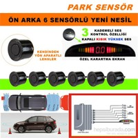 Park Sensörü Ön 2 Arka 4 Siyah Sensörlü Kademeli Ses Ayarlı