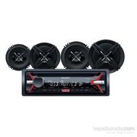 Sony SXB-1613 Cdli Oto Teyp ve Hoparlörlü Mega Bass Performans Seti