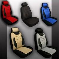 Stil EkoStar Peugeot TEPEE Araca Özel İthal Kumaş Ortapedik Oto Koltuk Kılıfı |Siyah - Gri