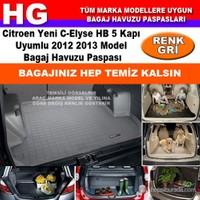 Citroen C-Elysee 2012 2013 Gri Bagaj Havuzu Paspası 38712