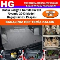Dacia Lodgy 2013 Gri Bagaj Havuzu Paspası 38732