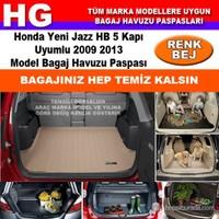 Honda Yeni Jazz 2009 2013 Bej Bagaj Havuzu Paspası 38816