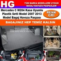 Mercedes C W204 Plastik Setli Model 2007 2013 Gri Bagaj Havuzu Paspası 38901