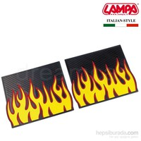 Lampa Fire&Furious Sarı-Siyah Kauçuk Arka Paspas 2 Ad. 35 cmx42 cm 24287