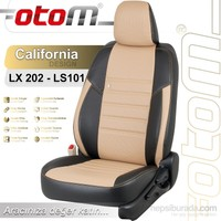 Otom Cıtroen C-Elysee 2012-Sonrası California Design Araca Özel Deri Koltuk Kılıfı Bej-101