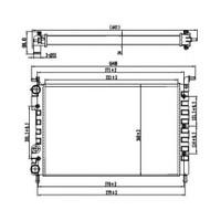Opar 46417050 Radyatör Palıo-Albea 1.2-1.4-1.6 16V (Ac+Klımasız+Mek) (521X350x34)