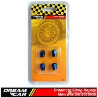 Dreamcar Aluminyum Sibop Kapağı 4'lü Set Mavi 8010036